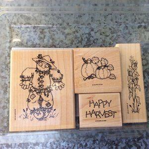Stampin Up Harvest Rubber Stamp